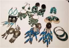 Group of Southwestern Earrings