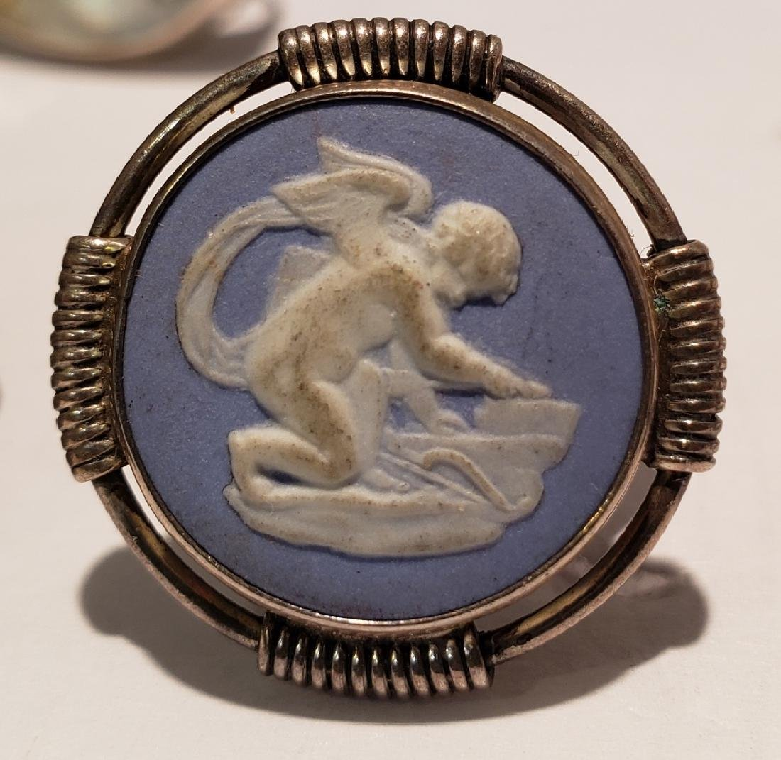 Large & Heavy Racing Horses Sterling Silver Pin - 5