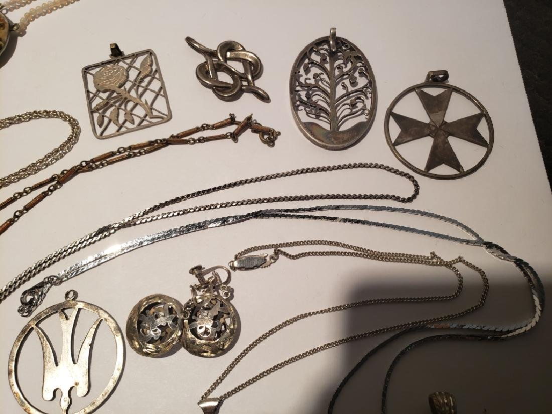 Group of Sterling Silver Jewelry - 5