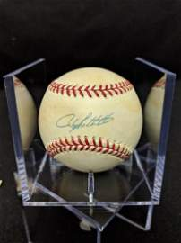 NYY Andy Pettite MLB Autographed Ball Steiner Cert
