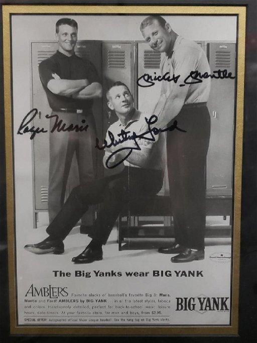 Roger Maris Whitey Ford Mickey Mantle Big Yank Feb 24 2019