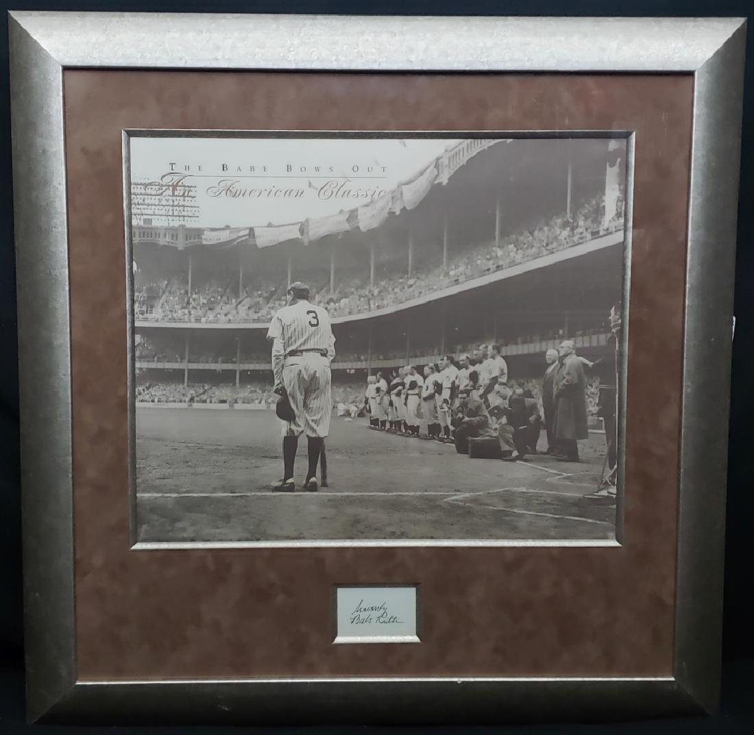 """Sincerely Babe Ruth Cut Sig """"The Babe Bows Out"""""""