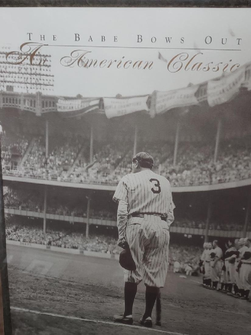 """Sincerely Babe Ruth Cut Sig """"The Babe Bows Out"""" - 3"""