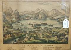 Currier  Ives The Lakes Of Killarney Lithograph
