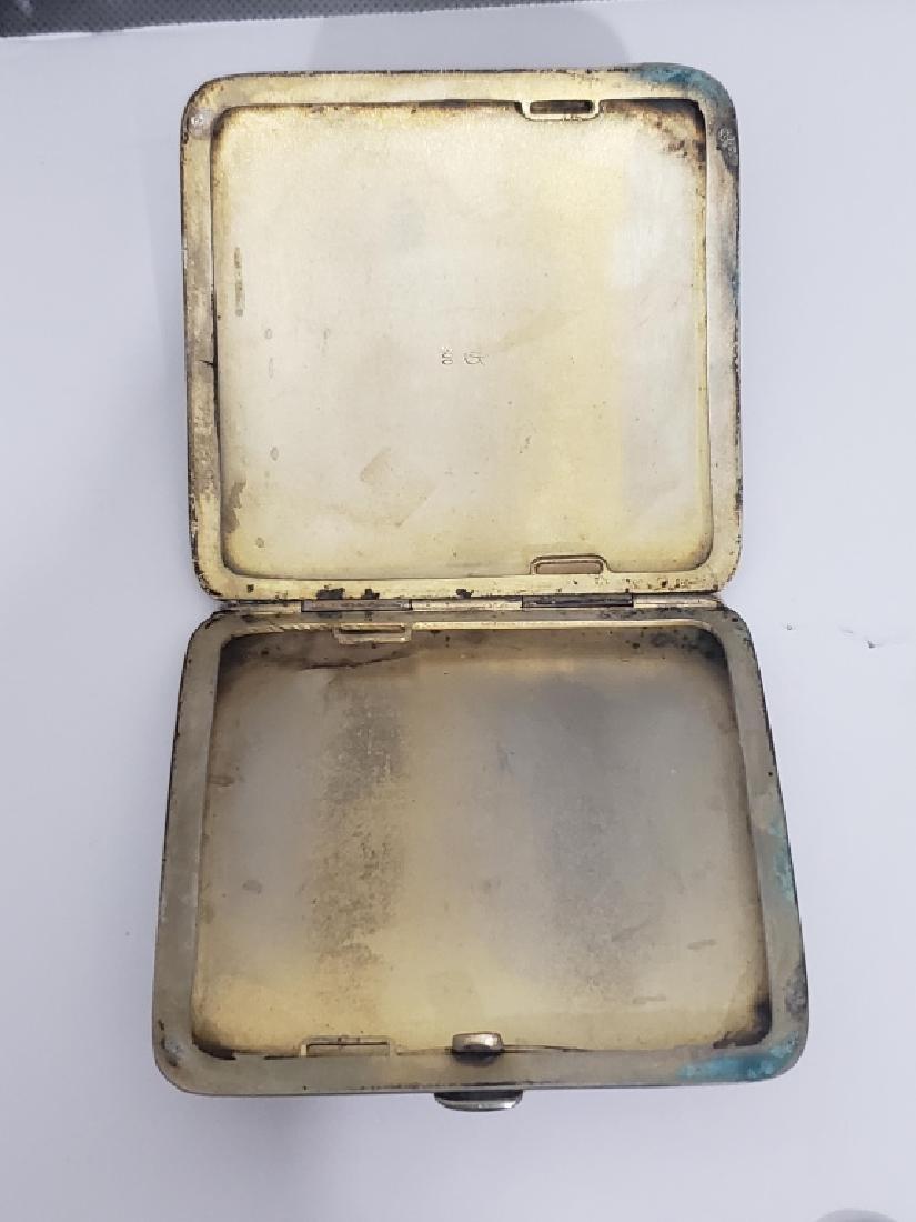 .800 Silver Cigarette Case Enamel Horse Head - 3