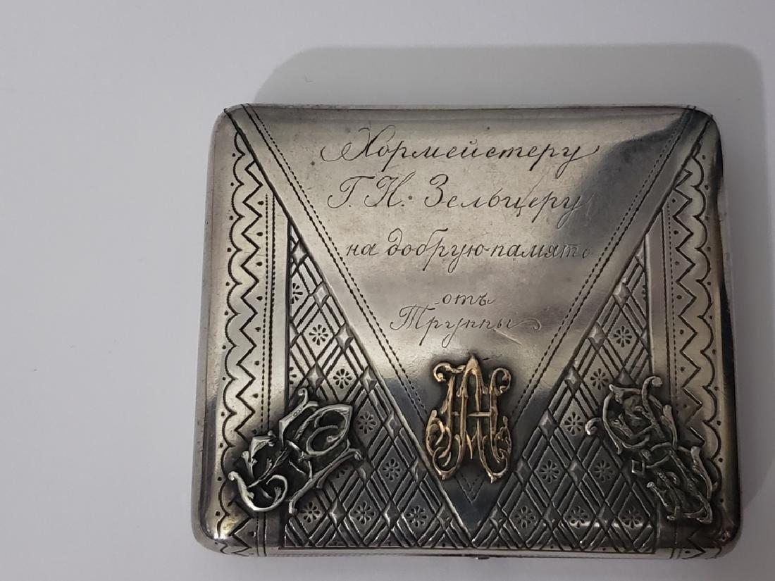 Russian Sterling Silver Cigarette Case Envelope