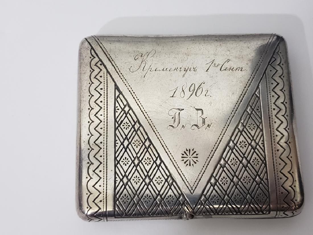 Russian Sterling Silver Cigarette Case Envelope - 2