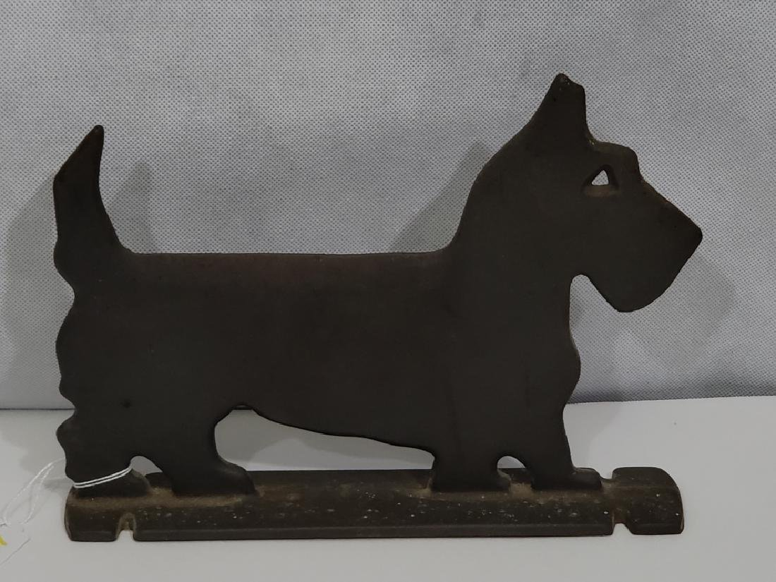 Cast Iron Scotty Dog Door Stop Flat Body
