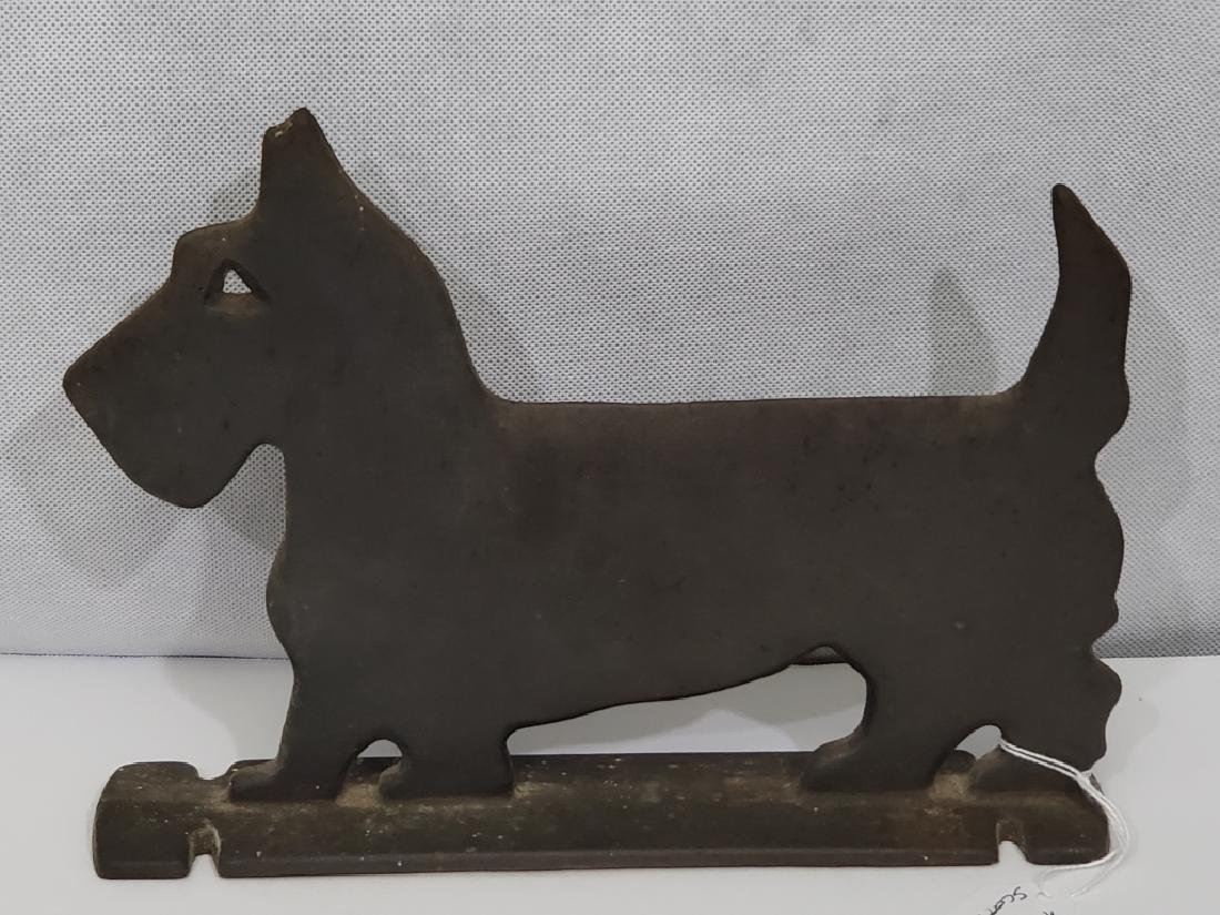 Cast Iron Scotty Dog Door Stop Flat Body - 2