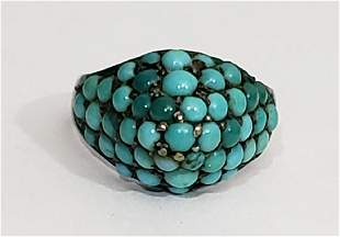 Antique 14K Gold & Turquoise Victorian Ring
