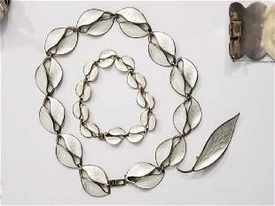 Sterling Silver & Enamel David Andersen Jewelry