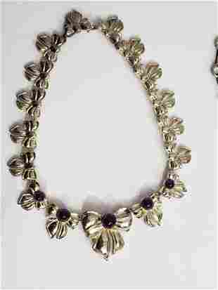 Sterling Silver & Amethyst Necklace Krypell