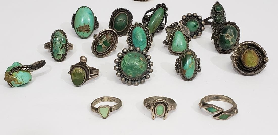 18 Sterling & Turquoise Native American Rings