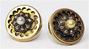 Victorian Diamond Earrings With Pearl