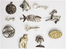 Group of 11 Vintage Sterling Pins