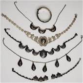 Group of 6 Thai Necklaces & More Sterling