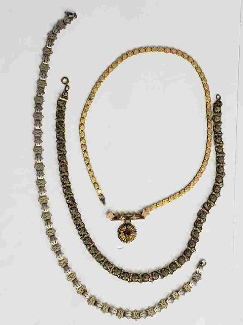 3 Victorian Gold Filled Necklaces
