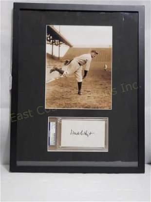 NYY Waite Hoyt PSA Autograph And Black & White