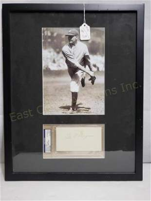 NYY George Pipgras PSA Certified Signature & Photo