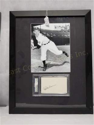 Detroit Tigers Hal Newhouser PSA Sig & Photo