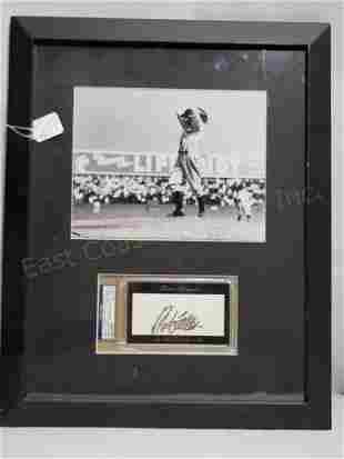 Bullet Bob Feller PSA Autograph & Photo