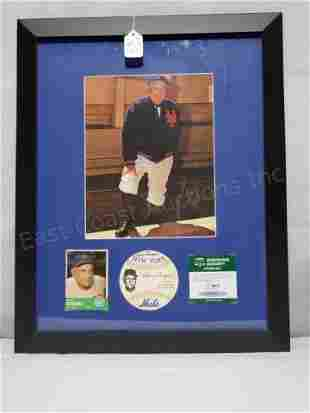 NY Mets Casey Stengel SGC Signature/ Photo Display