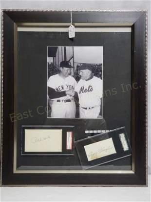 New York MLB Greats Ralph Houk & Casey Stengel
