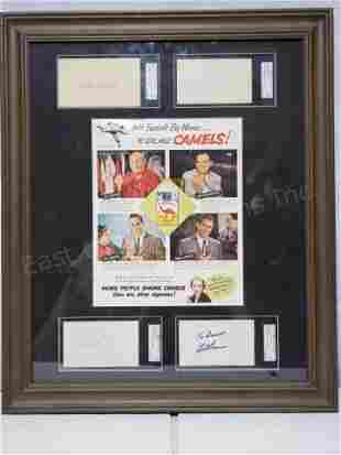 Vintage Camel Ad With MLB Signatures SGC Cert