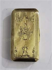 Small 14K Gold Snuff Box Or Other Box