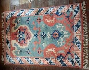 Vintage Turkish Kazak Carpet / Mat