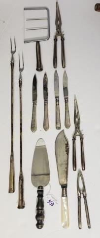 Group of Weighted Sterling Silver Handle Items