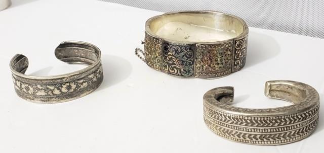Silver Bracelet Grouping (3 Pcs)