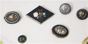 Pietra Dura & Micromosaic Pin Group (5)