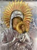 Antique Russian Religious Icon Ikon