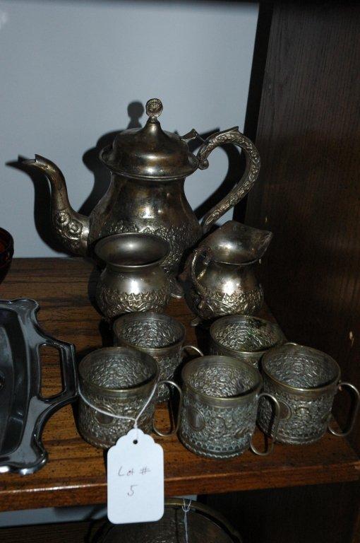 Vintage 7 piece  E.P. Silver tea set