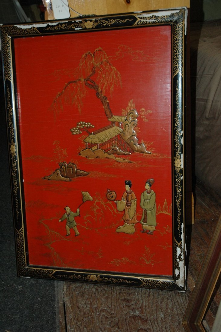 Authentic vintage Asian painting