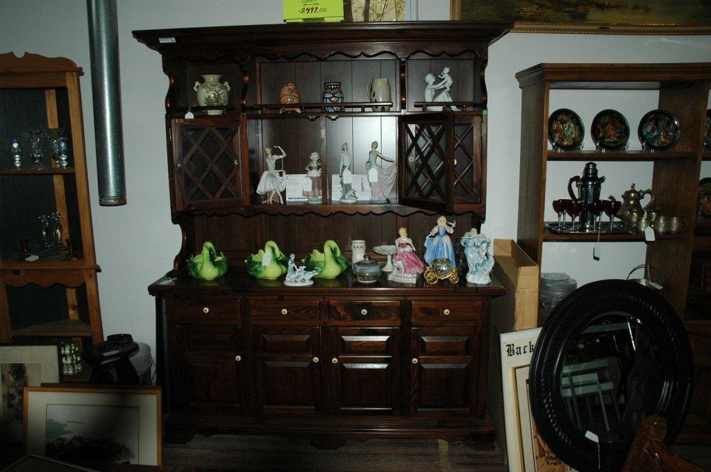 Vintage Solid Wood Hutch