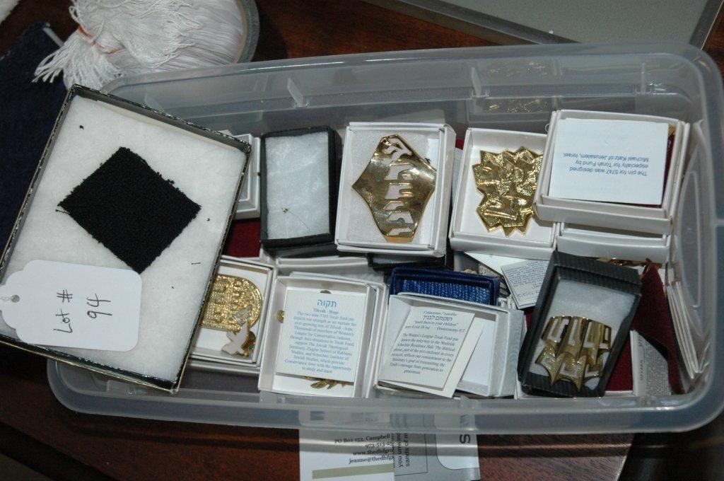 Lot of Judaica Pins