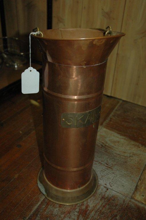 Vintage copper spittoon