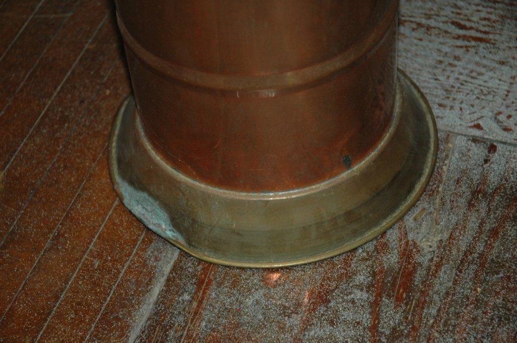 Vintage copper spittoon - 3