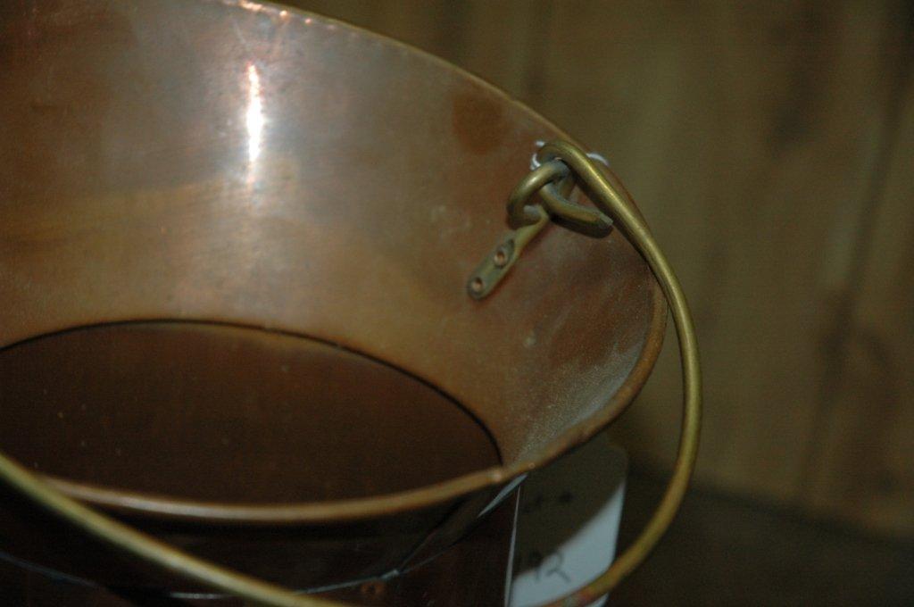 Vintage copper spittoon - 6