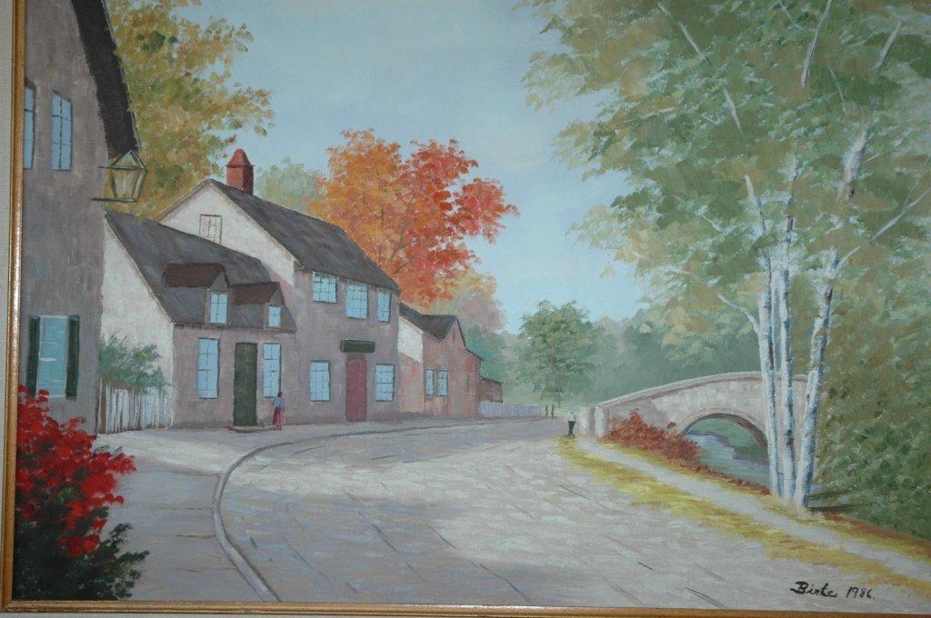 """Birte 1986 """"Autumn day"""" oil painting"""