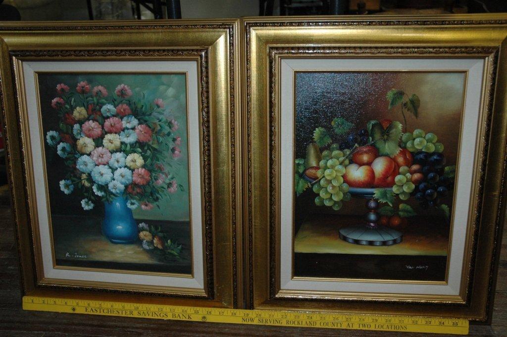 2 still life paintings / R. James and Van Hunt