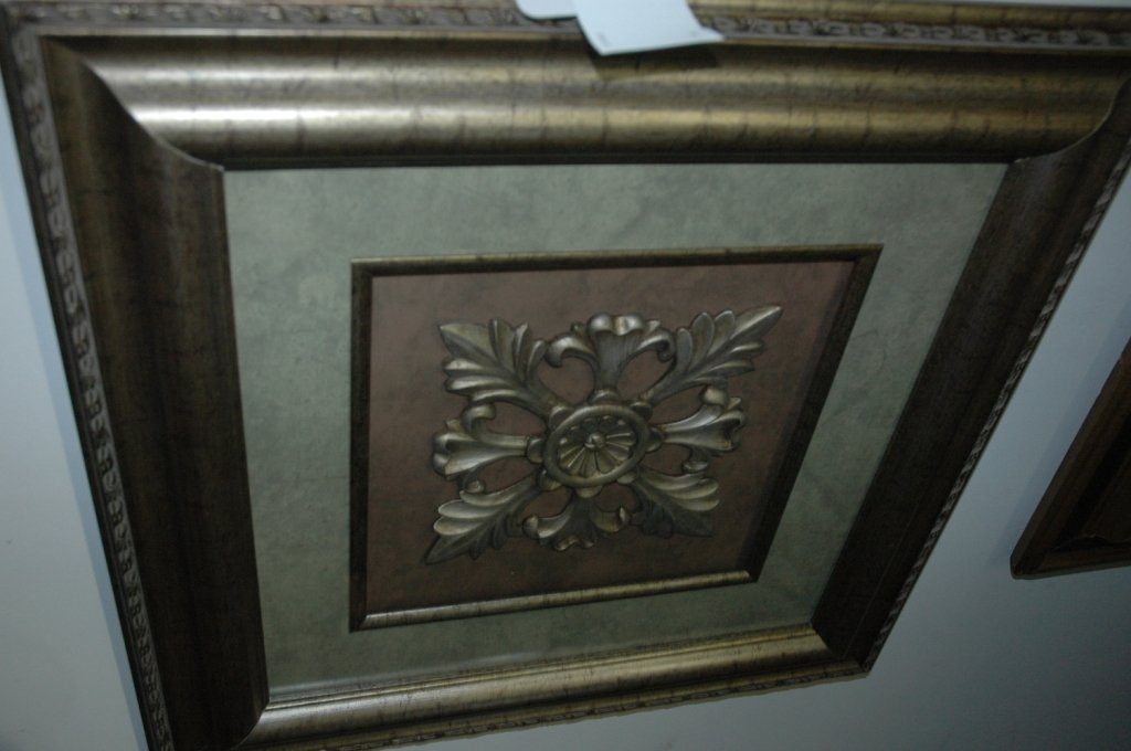 """22""""x22"""" Carved art deco"""