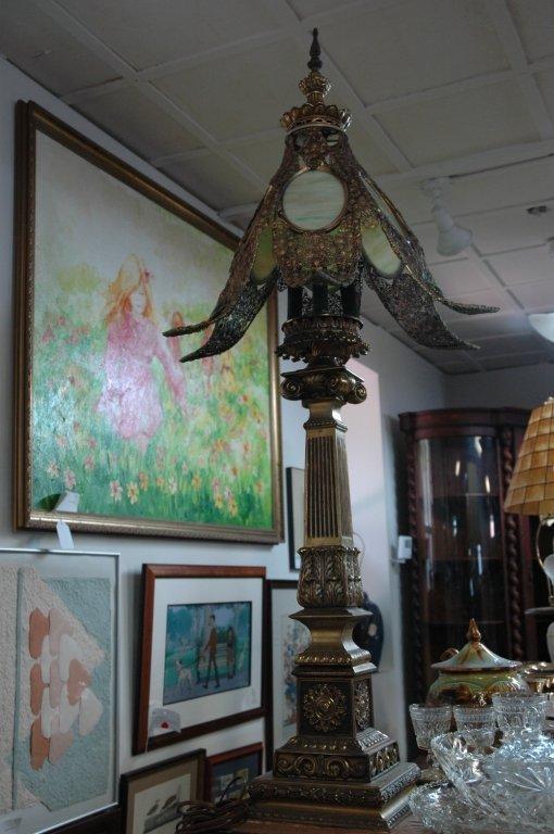 "Loevsky & Loevsky ""WMC"" Stained glass lamp"