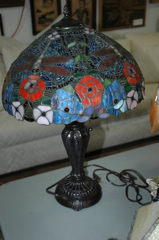 Thomas Pacconi Tiffany Style Stained Glass Lamp