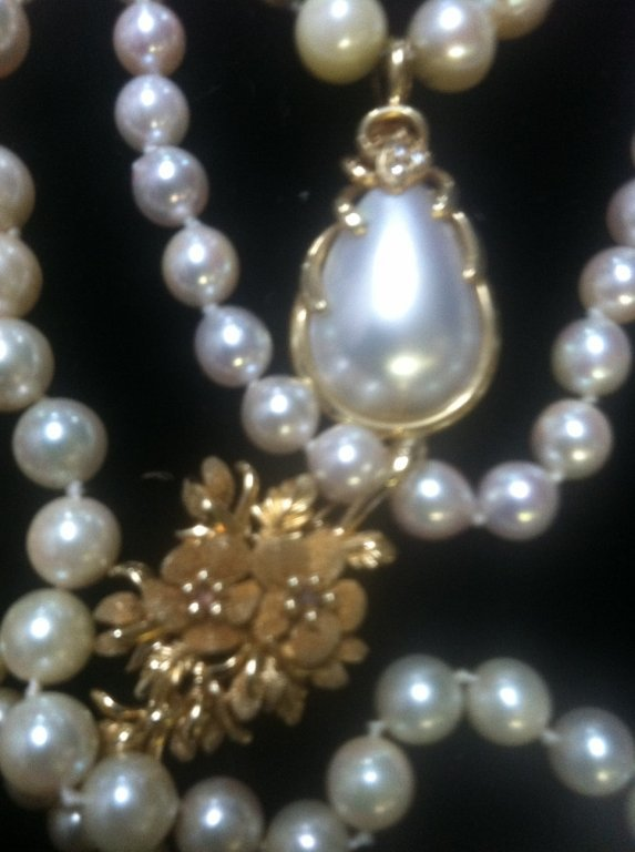 Pearl & Gold Jewelry lot - 3