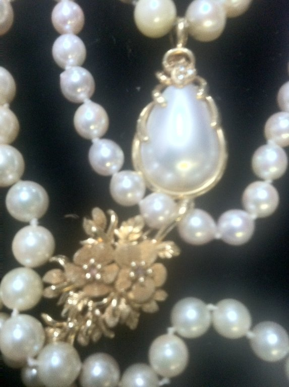 Pearl & Gold Jewelry lot - 4