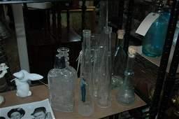 8 piece glass lot bottles Including Tiffany & Co +