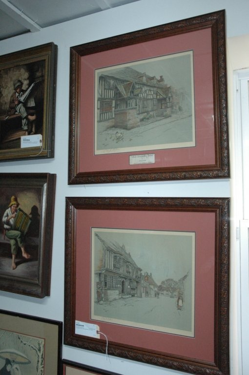 Pair of Signed Laloin Prints  by Cecil Aldin